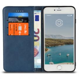 Casecentive PU Lederhülle iPhone 7 / 8 / SE 2020 blau