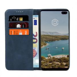 Casecentive Leder Wallet Case Samsung Galaxy S10 Plus Blau
