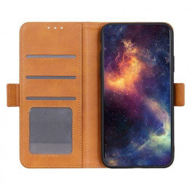 Casecentive Magnetic Leather Wallet case Galaxy S20 Ultra braun