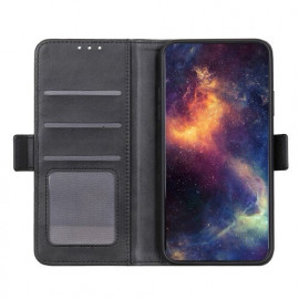 Casecentive Magnetic Leather Wallet Case iPhone 12 schwarz