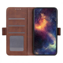 Casecentive Magnetic Leather Wallet Case iPhone 12 braun