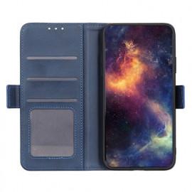 Casecentive Magnetic Leather Wallet Case 12 Pro / Max blau