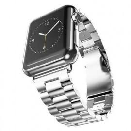 Casecentive Edelstahlarmband massiv Apple Watch 38 / 40 mm Silber