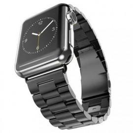 Casecentive Edelstahlarmband massiv Apple Watch 38 / 40 mm Schwarz
