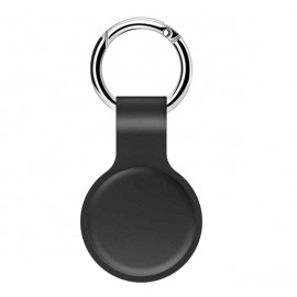 Casecentive Silikon Schlüsselanhänger mit Ring AirTag Case schwarz