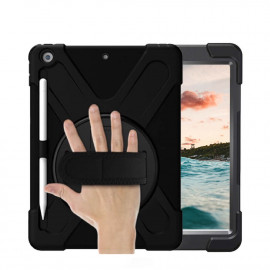 Casecentive Handstrap Hardcase iPad 10.2 (2019) schwarz mit Handschlaufe