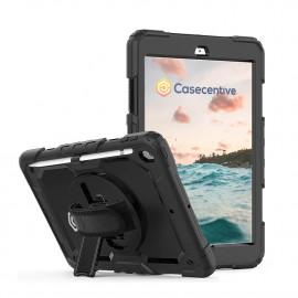 Casecentive Handstrap Pro Hardcase mit Handgriff iPad 10.2 schwarz