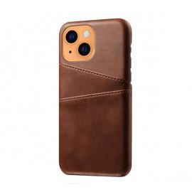 Casecentive Leder Wallet Back Case iPhone 13 braun