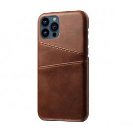 Casecentive Leder Wallet Back Case iPhone 13 Pro braun
