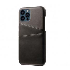 Casecentive Leder Wallet Back Case iPhone 13 Pro schwarz