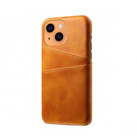 Casecentive Leder Wallet Back Case iPhone 13 tan/braun