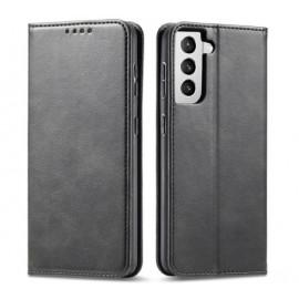 Casecentive Leder Wallet case Luxus Samsung Galaxy S21 Plus schwarz