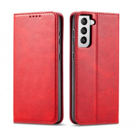 Casecentive Leder Wallet case Luxus Samsung Galaxy S21 rot