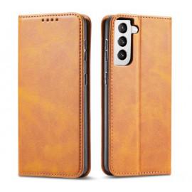 Casecentive Leder Wallet case Luxus Samsung Galaxy S21 hellbraun