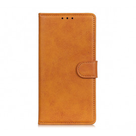 Casecentive Magnetic Leather Wallet Case iPhone 13 Pro braun