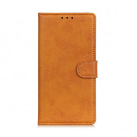 Casecentive Magnetic Leather Wallet Case iPhone 13 tan