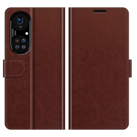 Casecentive Magnetic Leather Wallet Case Huawei P50 Pro braun