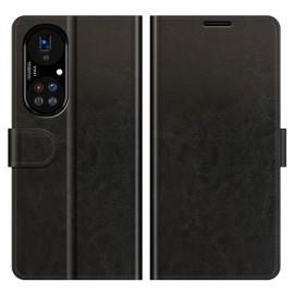 Casecentive Magnetic Leather Wallet Case Huawei P50 Pro schwarz