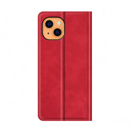 Casecentive Magnetic Leather Wallet Case iPhone 13 Mini rot