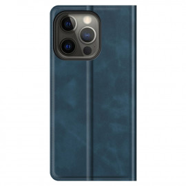 Casecentive Magnetic Leather Wallet Case iPhone 13 Pro Max blau