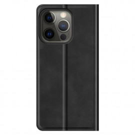 Casecentive Magnetic Leather Wallet Case iPhone 13 Pro Max schwarz