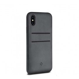 Twelve South Relaxed Leather pockets iPhone X grau