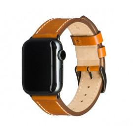 Dbramante1928 Copenhagen Apple Watch Strap 40 mm - hellbraun / space grey