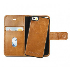DBramante1928 Wallet Folio Case iPhone 5(S)/SE braun cognac