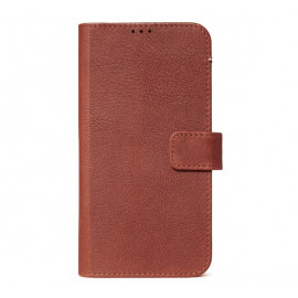 Decoded Leren Wallet Case iPhone 11 braun
