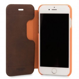 Knomo Leather Folio iPhone 6(S) / 7 bruin