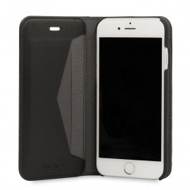 Knomo Premium Leather Folio iPhone 6(S) / 7 zwart
