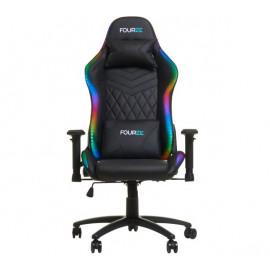 Fourze Lightning Gaming Stuhl RGB / LED schwarz