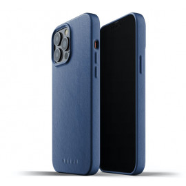 Mujjo Leather Case iPhone 13 Pro Max blau