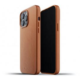 Mujjo Leather Case iPhone 13 Pro braun
