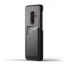 Mujjo Leather Wallet Case Galaxy S9 Plus schwarz