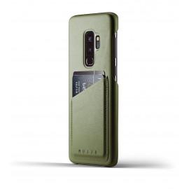 Mujjo Leather Wallet Case Galaxy S9 Plus grün
