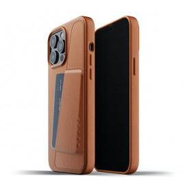 Mujjo Leder Wallet Case iPhone 13 Pro Max braun