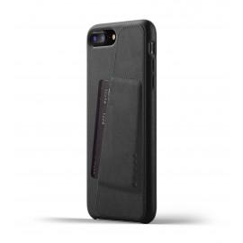 Mujjo Leather Wallet Case iPhone 7 / 8 Plus schwarz