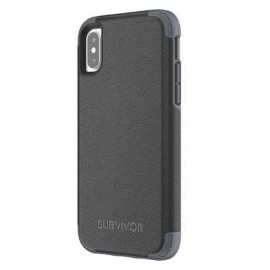 Griffin Survivor Prime Ledercase iPhone X schwarz