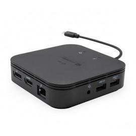 i-Tec Thunderbolt 3 Travel Dock Dual 4K Display schwarz