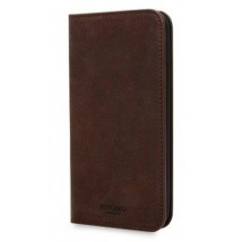 Knomo iPhone X Premium Leather Folio braun