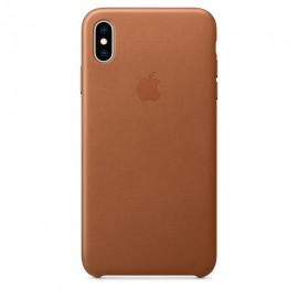 Apple Lederhülle iPhone XS Max Braun