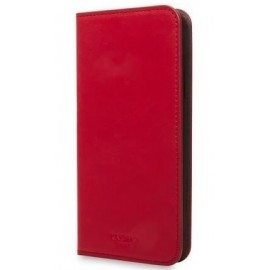 Knomo iPhone X / XS Premium Leather Folio chili - rot