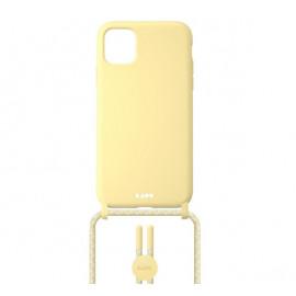 Laut Pastels Case mit Band iPhone 12 Mini gelb