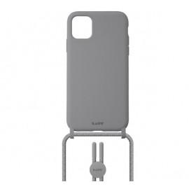 Laut Pastels Case mit Band iPhone 12 / 12 Pro grau
