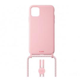 Laut Pastels Case mit Band iPhone 12 / 12 Pro Candy rosa