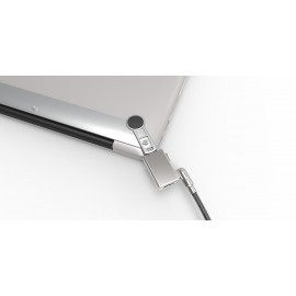 MacLocks MacBook Sicherheitsklemme mit Wedge Sicherheitskabel Schloss grau