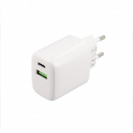 Musthavz Power Delivery Ladegerät 20 Watt mit USB-A und USB-C Anschluss weiß