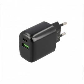 Musthavz Power Delivery Ladegerät 20 Watt mit USB-A und USB-C Anschluss schwarz