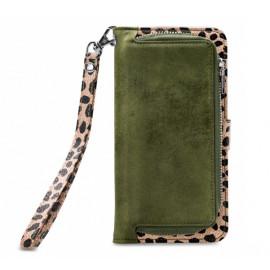 Mobilize 2in1 Gelly Wallet Zipper Hülle iPhone 11 Pro olivgrün / leopard